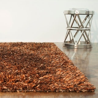 Hand-tufted Rocco Rust/ Brown Shag Rug (3'6 x 5'6)
