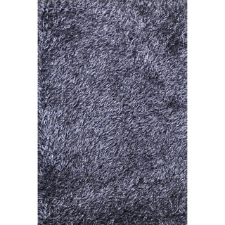 Hand-tufted Rocco Blue/ Black Shag Rug (3'6 x 5'6)