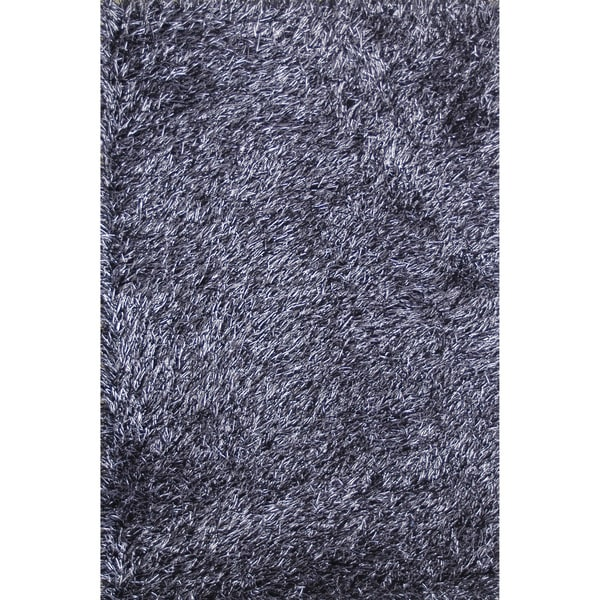 Hand Tufted Rocco Blue Black Shag Rug 3 39 6 X 5 39 6