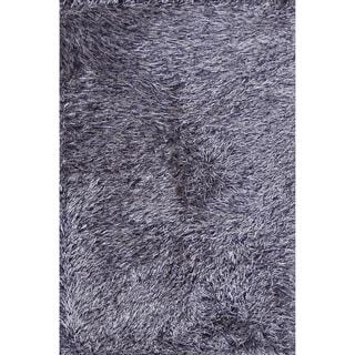 Hand-tufted Rocco Beige/ Blue Shag Rug (7'6 x 9'6)