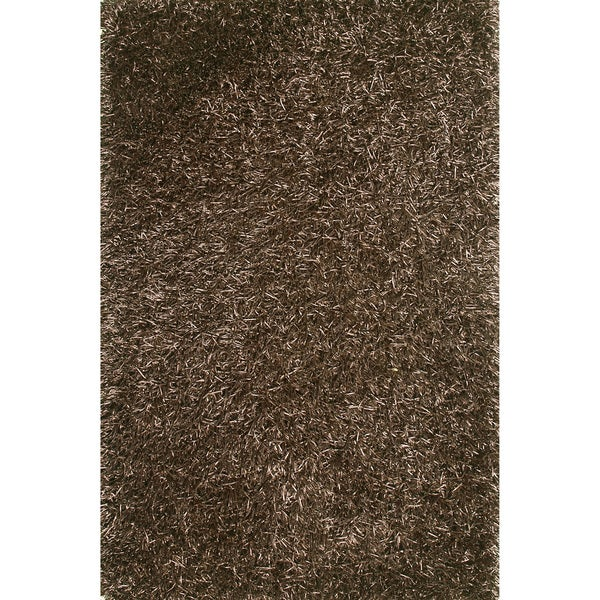 Hand-tufted Rocco Brown Shag Rug (5'0 x 7'6)