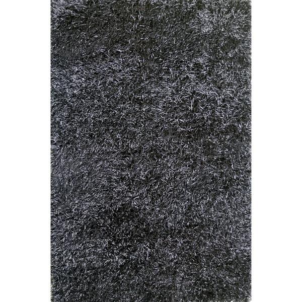 Hand-tufted Rocco Black Shag Rug (5'0 x 7'6)