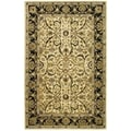Safavieh Handmade Heritage Treasures Ivory/ Black Wool Rug (5' x 8')