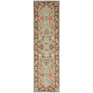 Safavieh Handmade Heritage Blue/ Brown Wool Rug (2'3 x 18')