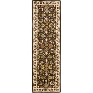 Safavieh Handmade Heritage Exquisite Brown/ Ivory Wool Rug (2'3 x 14')