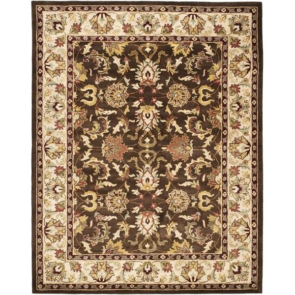 Safavieh Handmade Heritage Exquisite Brown/ Ivory Wool Rug (9' x 12')