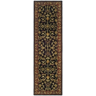 Safavieh Handmade Heritage Heirloom Black/ Red Wool Rug (2'3 x 6')