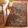 Safavieh Handmade Heritage Heirloom Black/ Red Wool Rug (2'3 x 6')