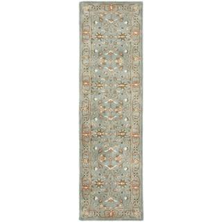 Handmade Heritage Nir Blue Wool Rug (2'3 x 6')