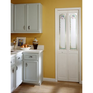 Grapevine Decorative Glass Bifold Door