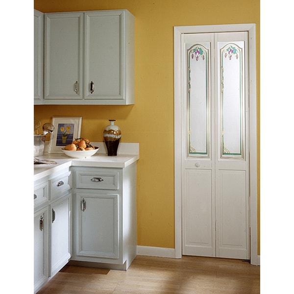 Grapevine Decorative Glass Bifold Door
