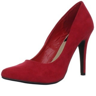 Fahrenheit Women's 'CR-01' Red Velvet Pumps