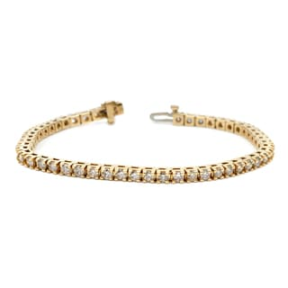Auriya 14k White or Yelllow Gold 7ct TDW Diamond Tennis Bracelet (H-I, I1-I2)