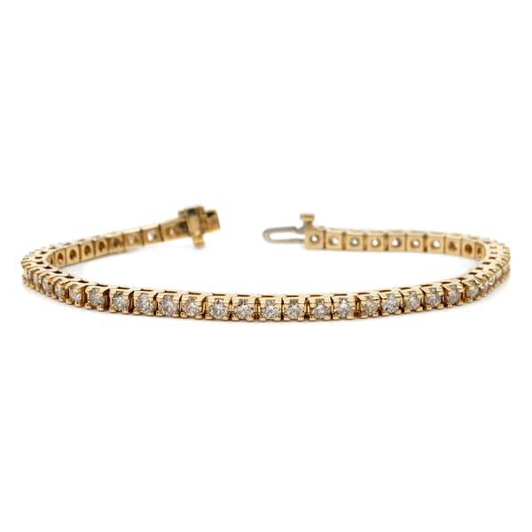 Auriya 14k White or Yellow Gold 9ct TDW Diamond Tennis Bracelet (H-I, I1-I2)