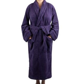 Leisureland Women's Purple Plush Fleece Robe