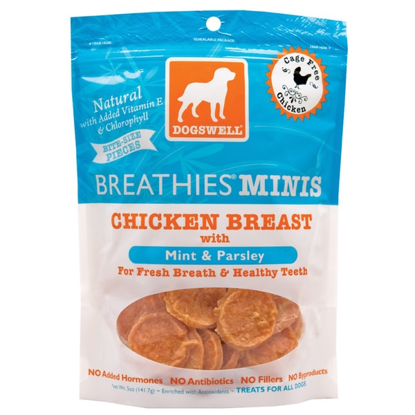 DogsWell Breathies Mini's Chicken Jerky 5 ounces