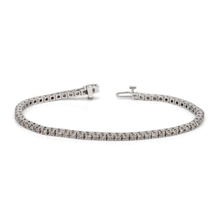 Auriya 14k White or Yellow Gold 4ct TDW Diamond Tennis Bracelet (H-I, I1-I2)
