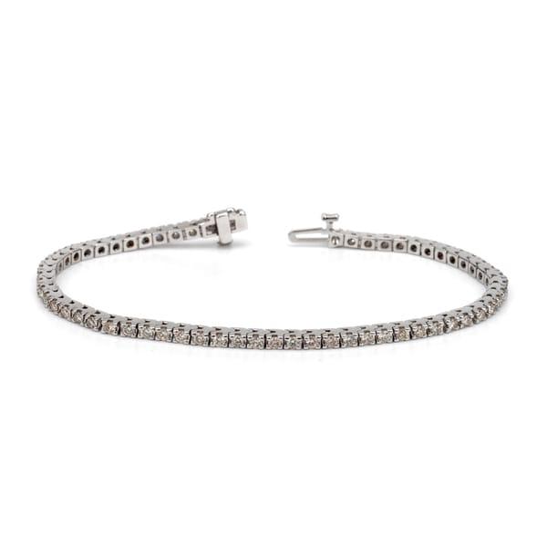 Auriya 14k White or Yellow Gold 4ct TDW Diamond Tennis Bracelet (H-I, I1-I2)