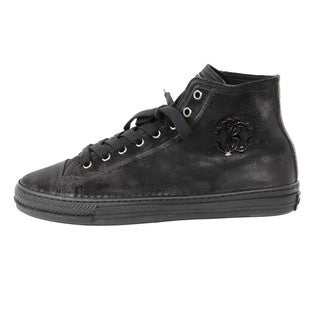 Roberto Cavalli Men's 'Winch Nero' Suede High-top Sneakers