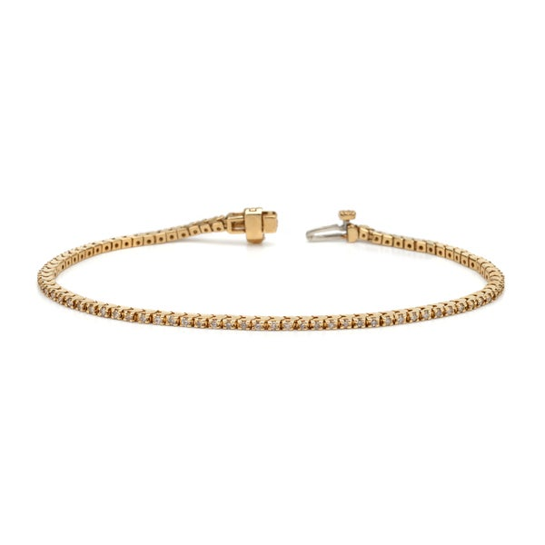 Auriya 14k White or Yellow Gold 6ct TDW Diamond Tennis Bracelet (H-I, I1-I2)