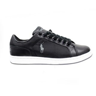 Ralph Lauren Men's 'Trevose' Black Low-Top Sneakers