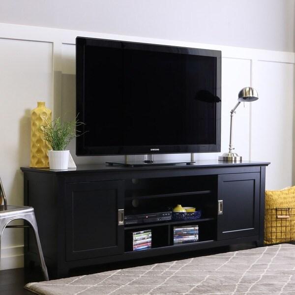 Tv Stand Black Sliding Door 44