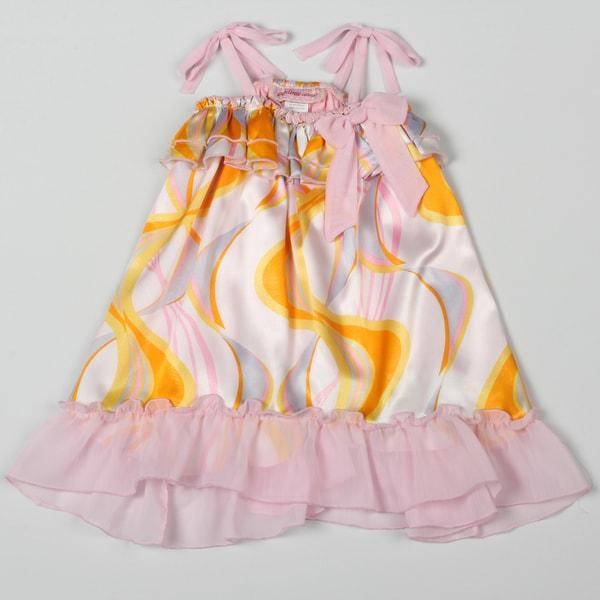 Paulinie Collection Girl's Swirl Sleeveless Dress (Size 2T)