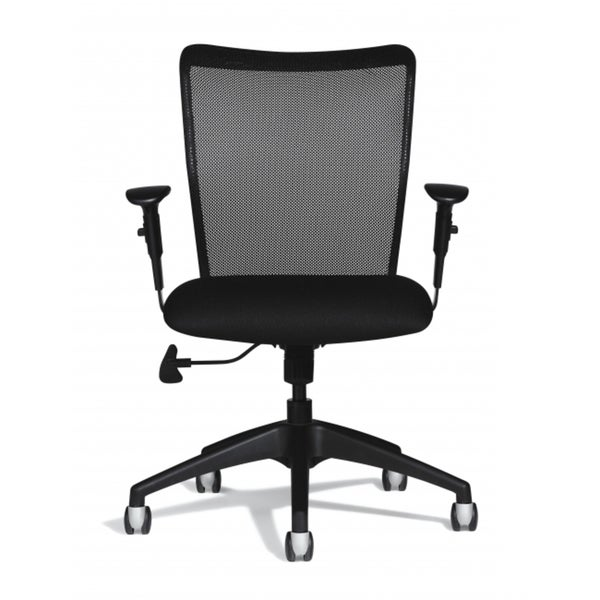 Allseating Black Inertia Lite Mesh Back Task Chair with Arms