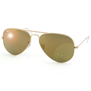 Ray-Ban Unisex RB3025 Large Gold Metal Aviator Sunglasses