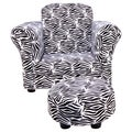 Trend Lab Black/ White Zebra Club Chair and Ottoman Set