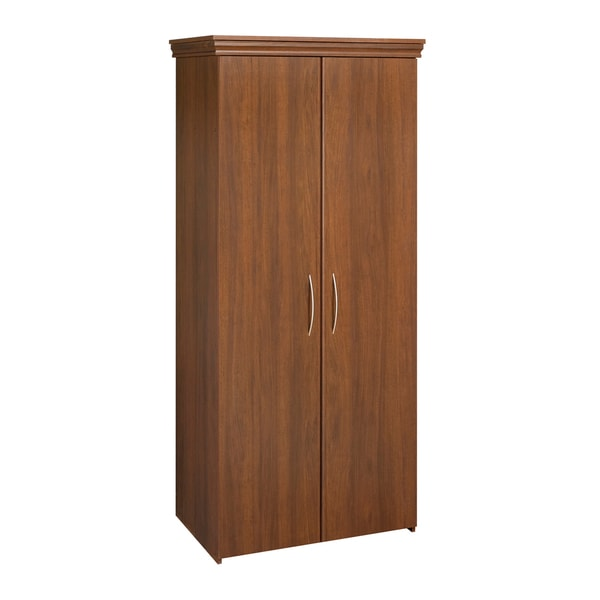walnut storage bedroom furniture armoire closet wardrobe entertainment