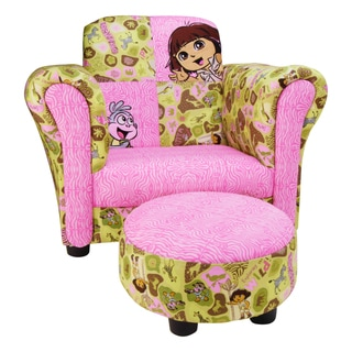 Trend Lab Dora the Explorer Club Chair and Ottoman Set