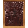 Hand-Carved Straight Face Buddha Panel (India)