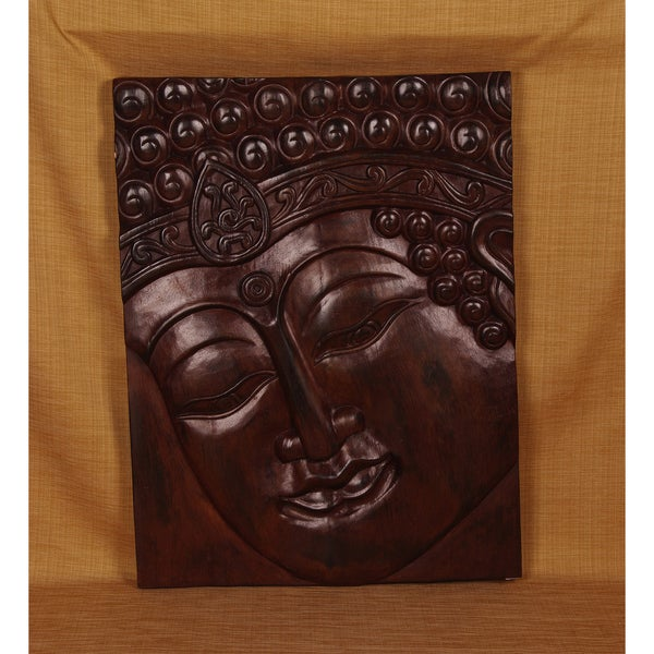 Hand-Carved Band Buddha Panel (India)