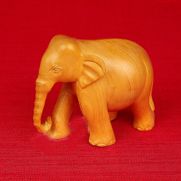 Hand-Carved Elephant Figurine (India)