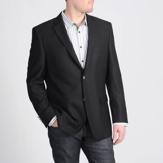 Avanti Uomo Men's Classic Fit Black Wool Blazer