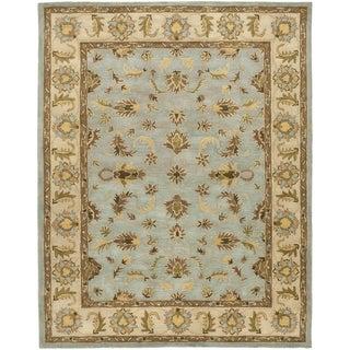 Safavieh Handmade Heritage Kashmar Light Blue/ Beige Wool Rug (12' x 15')