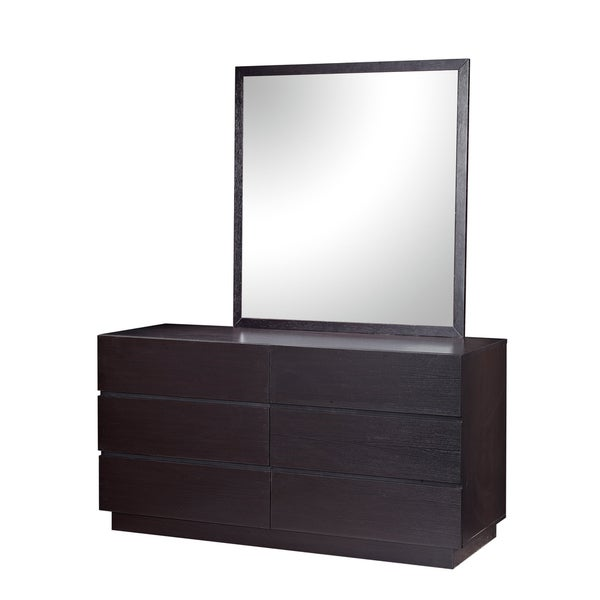 City Line Wenge Finish Contemporary Mirror