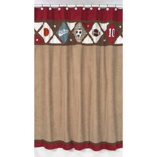 Sweet Jojo Designs All Star Sports Bath Shower Curtain