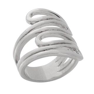 NEXTE Jewelry Silvertone Four-strand Swirl Ring