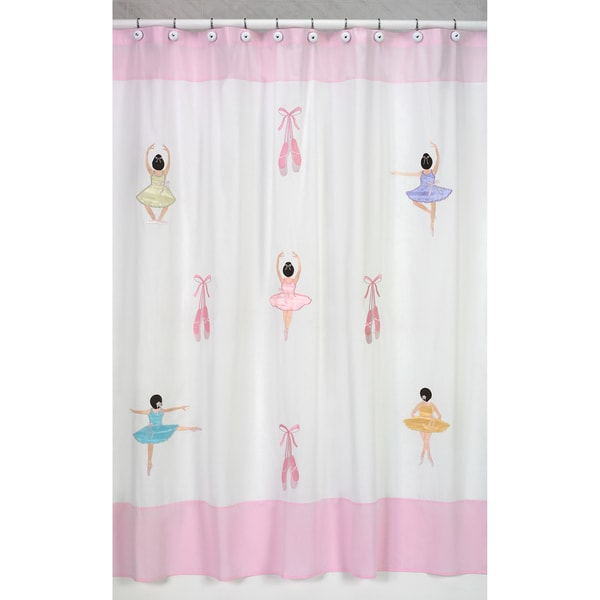 Sweet Jojo Designs Ballerina Kids Shower Curtain