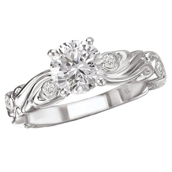 Avanti 14k Gold 1/10ct TDW Diamond Semi-mount Engagement Ring (G-H, SI1-SI2)