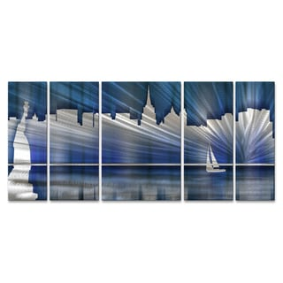 Ash Carl 39 Cool New York Skyline 39 Metal Wall Art