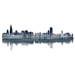 Ash Carl 'Chicago Reflection' Metal Wall Art