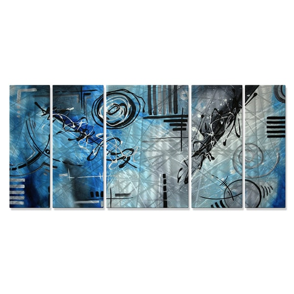Megan Duncanson 'Blue Divinity' Metal Wall Art