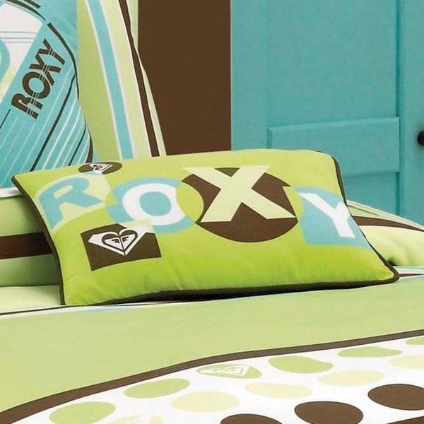 Roxy Kelly Colorblock Letter Decorative Pillow