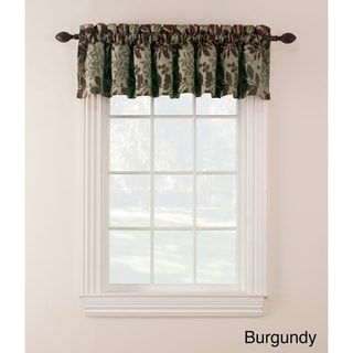 Chenille Leaf Valance (Set of 2)
