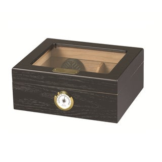 Capri Black Oak Cigar Humidor