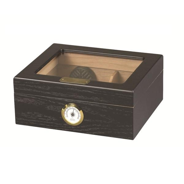 Capri Black Oak Cigar Humidor