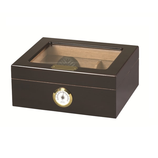 Capri Glass Top Cigar Humidor